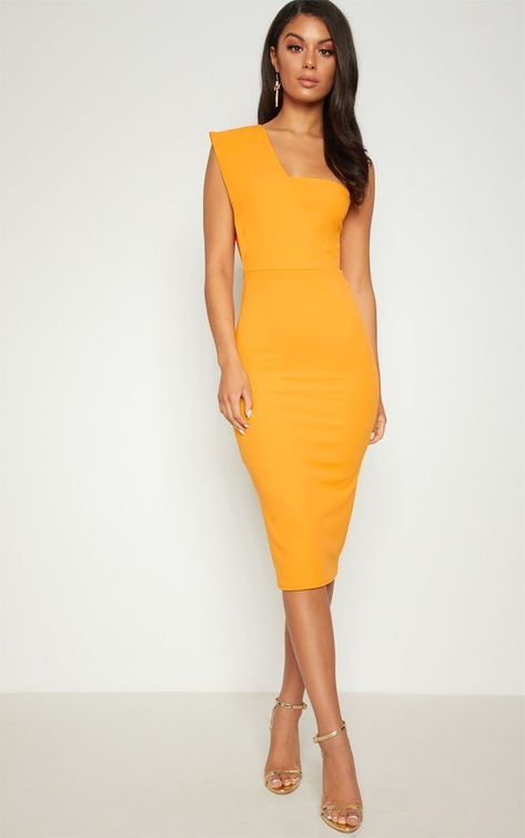 classy yellow bodycon dress outfit