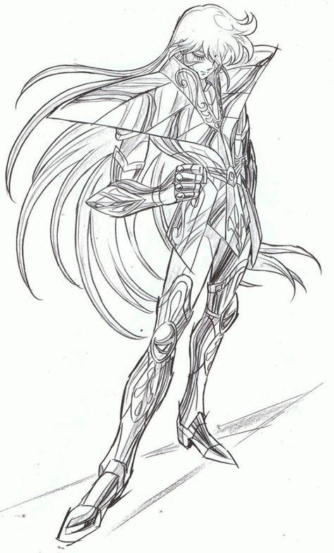 Desenhos Para Colorir Cavaleiros Do Zodiaco Virgem Cavaleiros Do