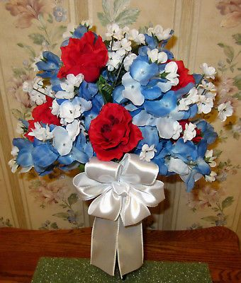 Cemetery Headstone Memorial Day Vase