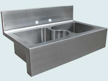 Stainless Steel Backsplash Sinks 5012 Stainless Steel Backsplash Sink Kitchen Sink Taps