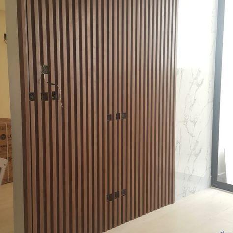 بديل الخشب للجدران بديل خشب للجدران بديل الخشب تكسات بديل الخشب Pvs خلفية حائط تلفزيون تفصيل خشب House Interior Decor House Interior Bathroom Interior Design