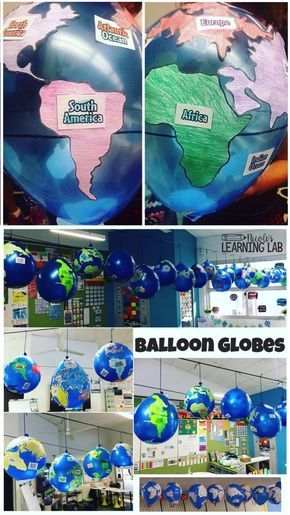 Geography – Balloon Globes – World Maps Have a blast while learning with this hands on map skills and geography.