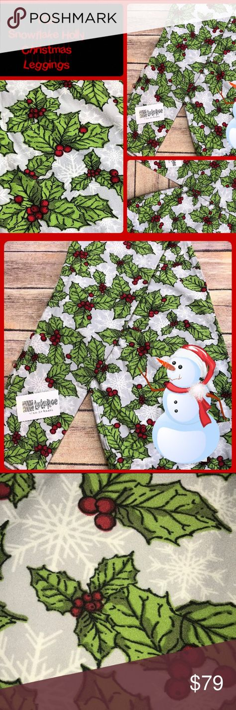 a8c1c409e65cab HURRY LLR TC2 Leggings Holly White Snowflake ⚡SAME DAY SHIPPING & HANDLING  ⚡ SIZE is