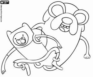 Desenho De Finn E Jake Os Principais Protagonistas De Adventure