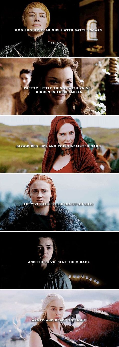 GoT Game of Thrones Cersei Lannister Sansa Arya Strong Margery Daenerys Targary ... #cersei #daenerys #lannister #margery #sansa #strong #thrones