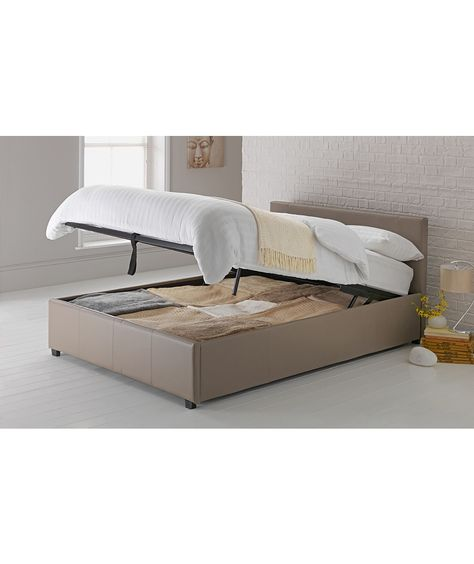 Awe Inspiring Hygena Montgomery Kingsize Ottoman Bed Frame Latte At Andrewgaddart Wooden Chair Designs For Living Room Andrewgaddartcom