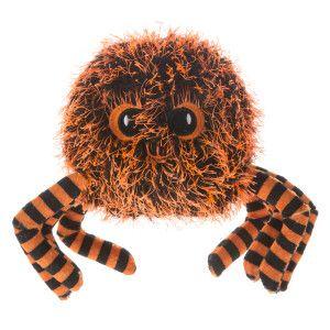Thrills Chills Pet Halloween Tipped Spider Dog Toy Toys
