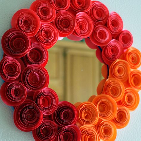 DIY:: Free Printable Spiral Rosette Template to Make Rosette Mirror