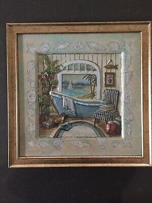 Bathroom Framed Art Picture Fashion Home Garden Homedcor