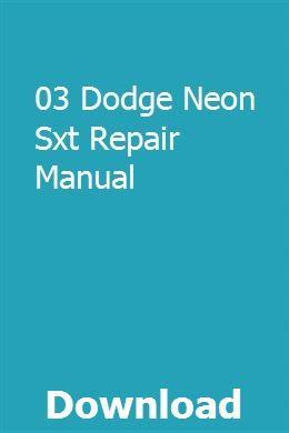 03 Dodge Neon Sxt Repair Manual Repair Manuals Kawasaki Mule Manual