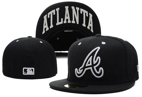 1bb6b89d22981 MLB Atlanta Braves New Era Fitted Hats Size Caps for Man Woman