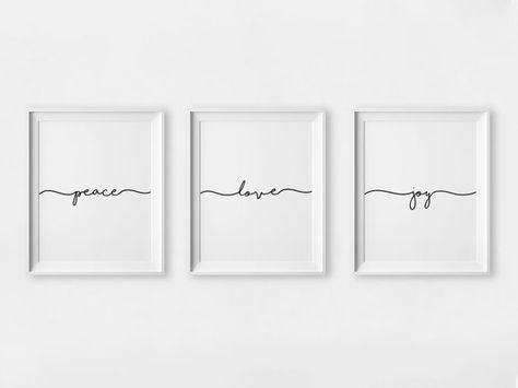 Friede Freude Liebe Frieden Digital Print Set lieben