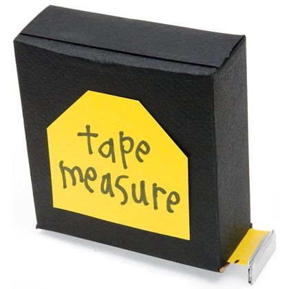 """Our faux tape measure extends the perfect Father's Day message to a dad who's skillful at building and repairing. Have him pull out the ruler tape to read, """"You rule, Dad!,"""" """"I love you thiiiiiiis much!"""" or """"Dad, you really go the distance!"""""""