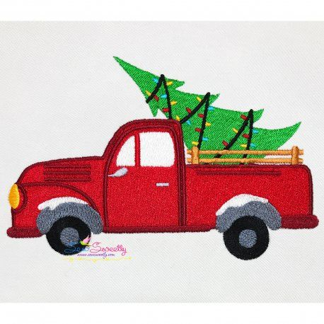 Christmas Embroidery Design Christmas Tree Truck Christmas Embroidery Christmas Embroidery Designs Christmas Tree Truck