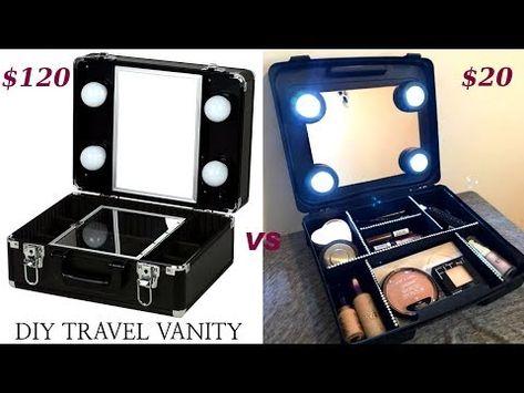 round makeup vanity bag