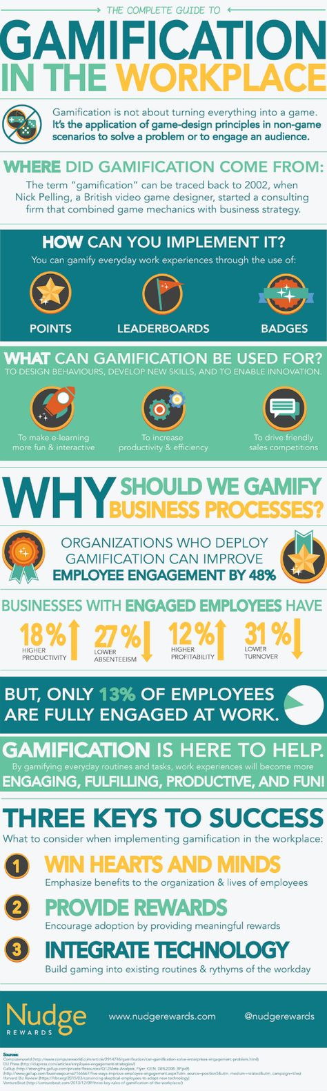 gamification of the workplace As the market leader and innovator in gamification, bunchball's gamification solutions have motivated more than 125 million users to complete more than 20 billion actions on behalf of over 300 customers.