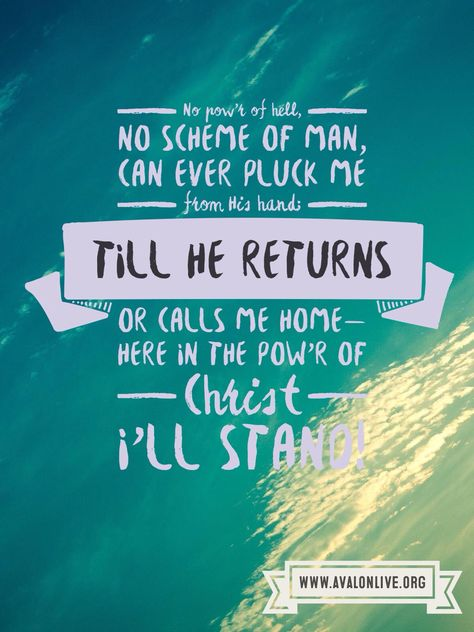 lyrics from our song: In Christ Alone