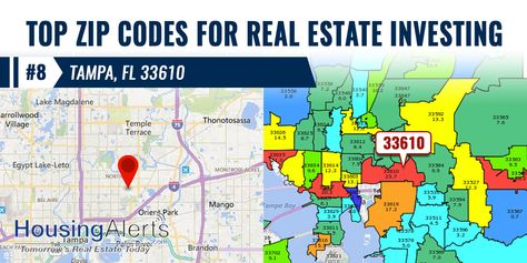 33610 Zip Code Map.We Re Counting Down The 9 Hottest Realestateinvesting Zip Codes In