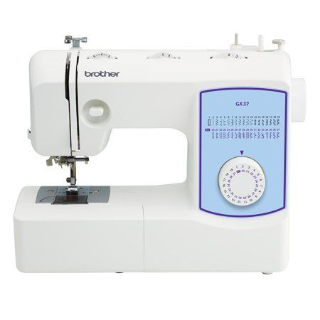 Brother Gx37 Lightweight Full Featured Sewing Machine With 37 Built In Stitches 1 Step Auto Size Buttonhole 1 Each Walmart Com Brother Sewing Machines Sewing Machine Sewing