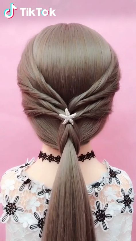 Super easy to try a new #hairstyle ! Download #TikTok today to find more amazing videos. Also you can post videos to show your unique hairstyles! Life's moving fast, so make every second count. #hair #beauty #DIY #entertainment #braids