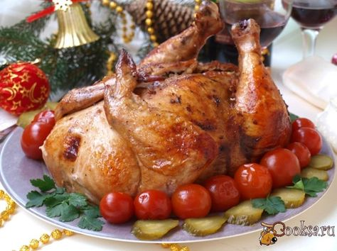 Курица фаршированная луком и грецкими орехами — pic 7
