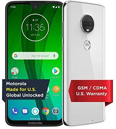 Moto G7 With Alexa Hands Free Unlocked 64 Gb Clear White Us Warranty Verizon At T T Mobile Sprint
