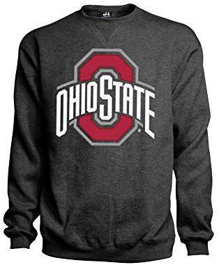 Top of the World Mens Team Color Tackle Twill Applique Arch Crewneck Sweatshirt
