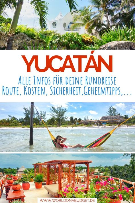 Plane deine #Rundreise auf der #Yucatan Halbinsel in #Mexiko mit diesem #Travelguide. Wir geben dir eine knackige Übersicht zu den schönsten Orten und Routen und zeigen dir tolle Unterkünfte. Außerdem geben wir dir die kompletten Kosten an und Infos zum Thema Sicherheit. Das alles findest du hier in diesem #Reisebericht. Schau' direkt mal rein!