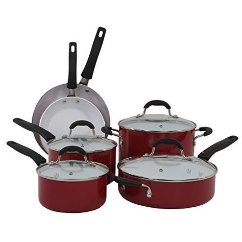Large Cook N Home 12 Fry//Saute Pan with Non-Stick Coating Induction Compatible Bottom Black