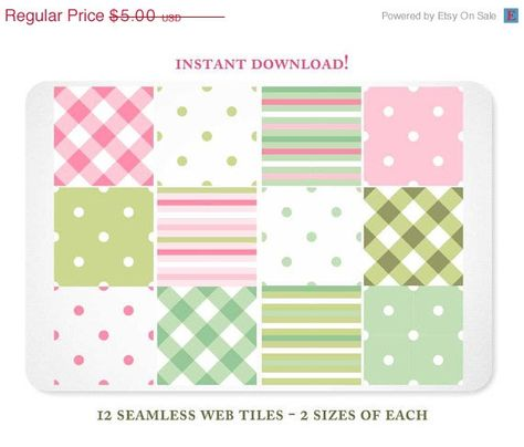 Christmas In July Sale Gingham Stripes and Dots by KellyJSorenson, $3.75