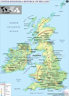 Map 0f Uk.Map Of Uk And Ireland Travel Maps In 2019 Ireland Map