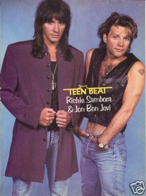 Jon Bon Jovi Richie Sambora Pinup Cute In Jeans Bon Jovi