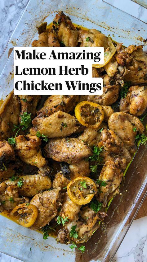 Make Amazing Lemon Herb Chicken Wings