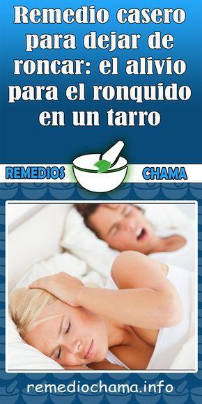 remedios caseros para dejar de roncar en las noches