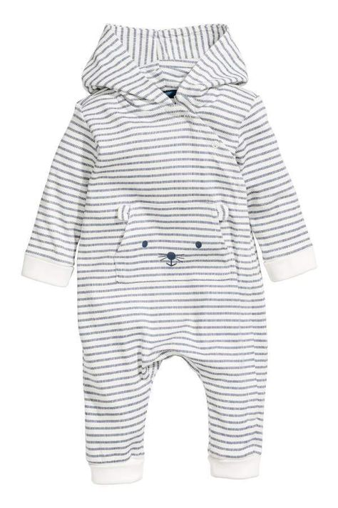 a25a94baff14 H M H   M - Printed Jersey Jumpsuit - White blue striped - Kids ...