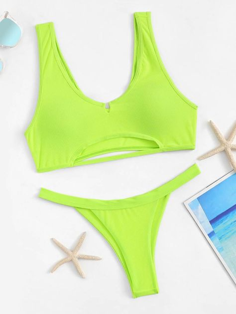 bf6e1c1e4a Neon Pink Cut-Out Top With Tanga Bikini Set – WEARWHO/ summer outfit,  spring outfit, fashion, style, ootd, what to wear, cute outfit, trendy,  outfit ideas, ...