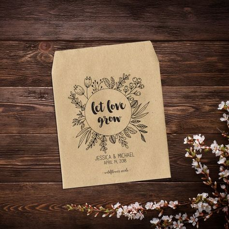 Seed Packets, 25 Wedding Favors, Let Love Grow, # #weddingseedpackets #weddingfavors #letlovegrow #seedpackets #seedpacketfavors #seedweddingfavors #seedfavors #rusticweddingfavor #seedenvelopes #weddingfavorsseeds #customseedpackets #weddingfavorrustic #rusticweddings