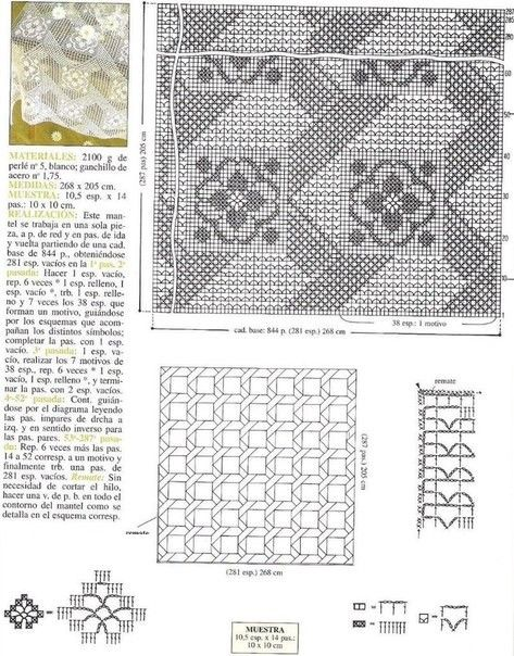 18 Manteles A Crochet Patrones Gratis Manualidades Y Diymanualidades Y Diy Manteles Tejidos Manteles Patrones De Tapetito