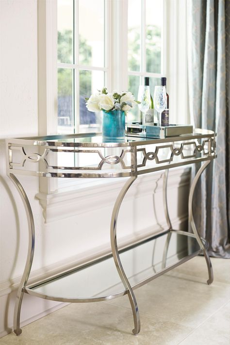 outlet store e610f e86ad This elegant console table puts a modern twist on glamour ...
