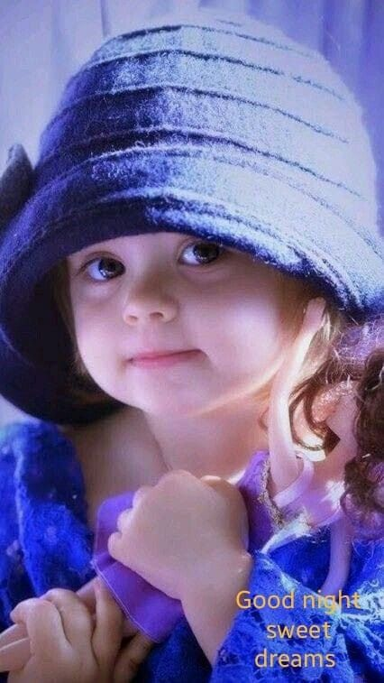 Good Night Images With Cute Baby Girl : night, images, Santosh, Patil, Night, Wallpaper,, Little, Girl,, Wallpaper