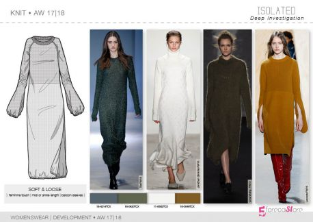 Knitwear flat drawings, vector technical sketches for Fall winter Trend forecasting by