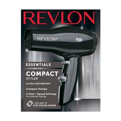 Revlon Compact Styling Ultra Light Hair Dryer 1875w Lightweight Hair Dryer Revlon Hair Dryer Hair Dryer
