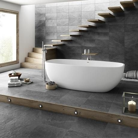 Different Designs For Your Floor Using Ceramics Black Bathroom Floor Tiles Black Bathroom Floor Bathroom Wall Tile