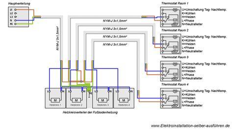 Cute Schaltplan eines Thermostats f r eine Fu bodenheizung Elektrische Schaltungen f r die Hausinstallation Pinterest