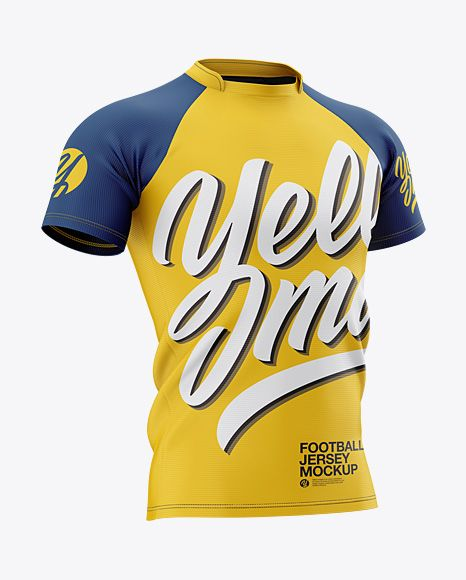 Download Men S Football Jersey Mockup Halfside View In Apparel Mockups On Yellow Images Object Mockups Design Mockup Free Football Jerseys Clothing Mockup