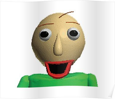 Happy Baldi In Baldi S Basics In Education And Learning Poster By
