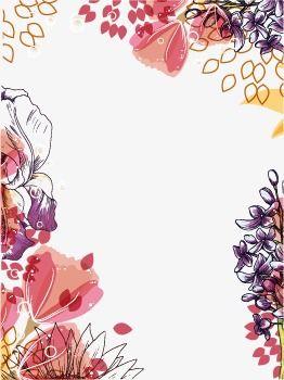 Quadro Pintado à Mão De Flores Coloridas Pintados à Mão