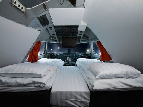 cockpit Sleep in a #cockpit in...