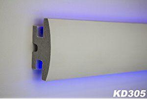 lichtundurchl/ässig indirekte Beleuchtung Trockenbau 150x90mm 1,15 m LED Profil Tesori KD202 XPS Rigips