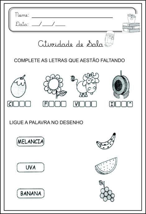 Atividades De Alfabetizacao Com Vogais Aprenda As Letras Com